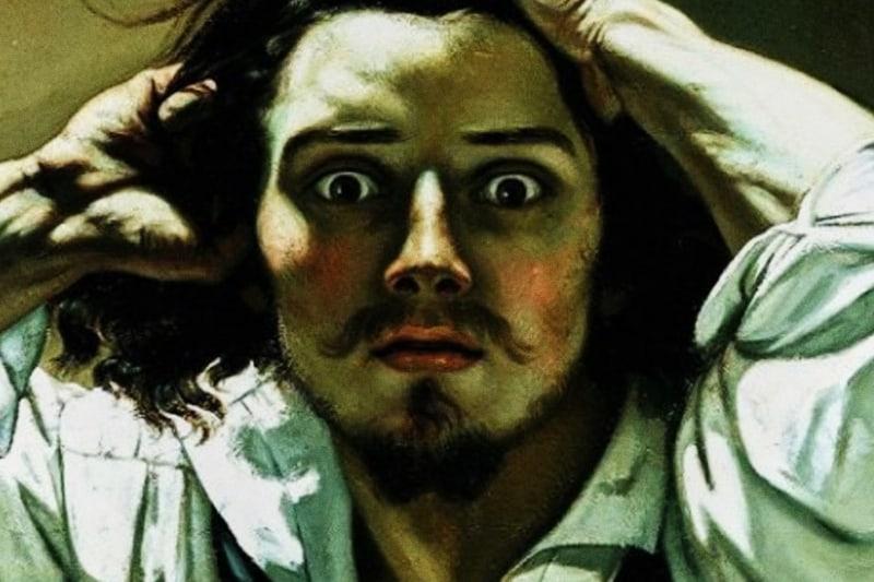 """Gustave Courbet, """"Autoritratto come uomo disperato"""" (1843 c.), collezione privata"""