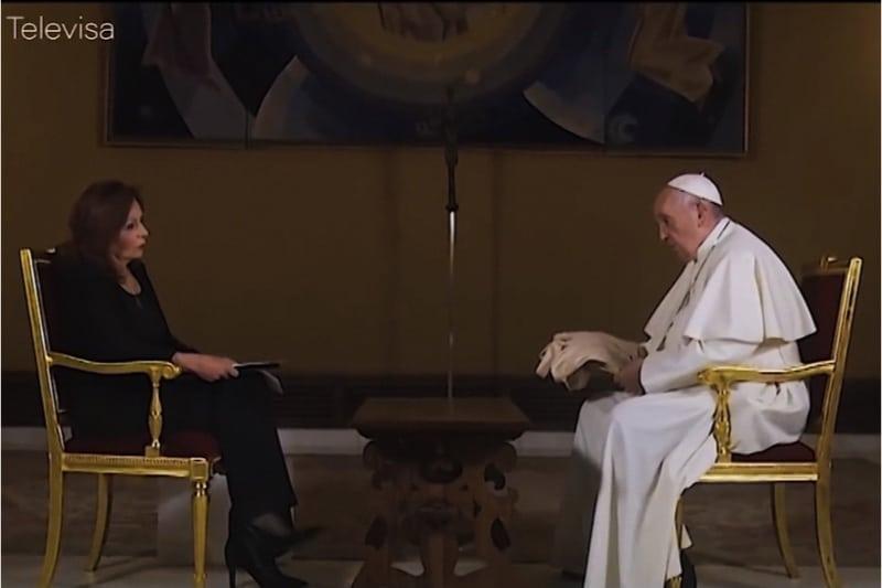 Papa Francesco intervistato da Valentina Alazraki di Televisa 28 05 2019