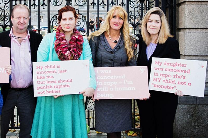 Persone concepite dopo stupro o che hanno subito uno stupro e non hanno abortito