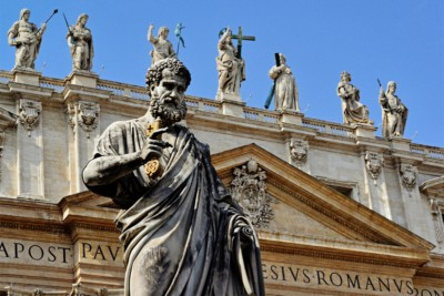 Statua di San Pietro in Piazza San Pietro, Vaticano, Roma