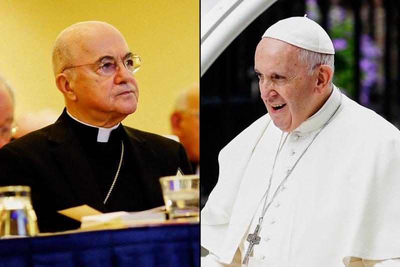 Arciv. Carlo Maria Viganò e Papa Francesco 2