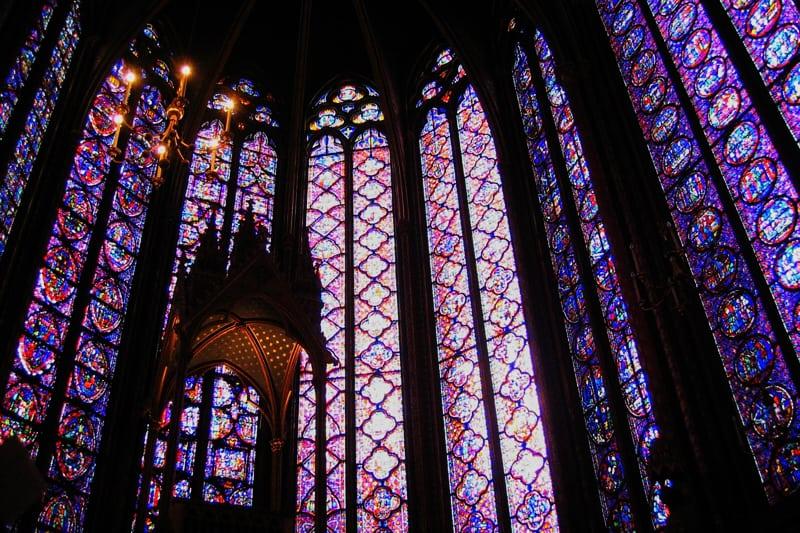 Cattedrale gotica: vetrate