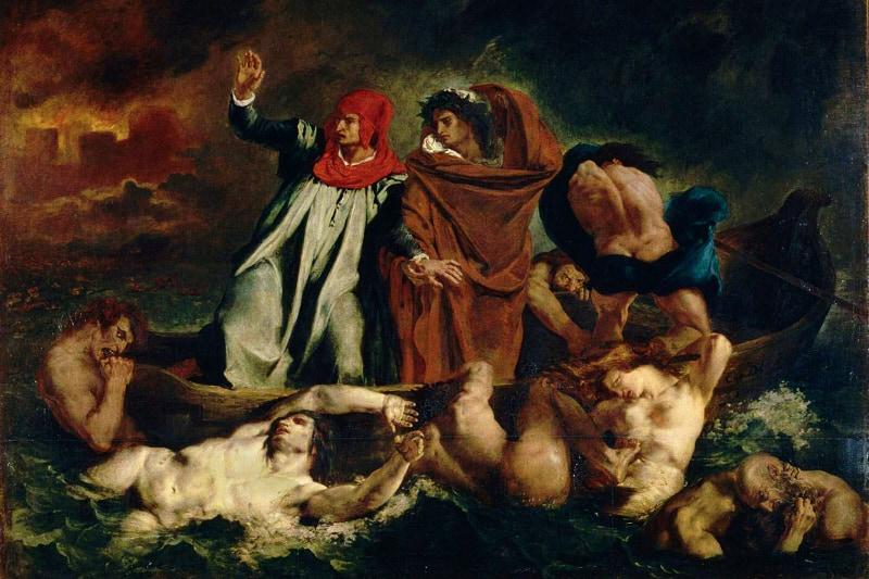 Dante e Virgilio nella Divina Commedia