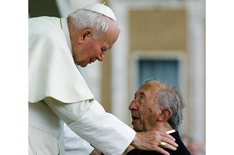 Papa San Giovanni Paolo II e don Luigi Giussani