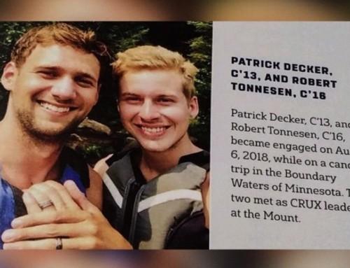 """La rivista degli studenti dell'università cattolica Mount St. Mary ha pubblicato l'annuncio di """"fidanzamento"""" omosessuale"""