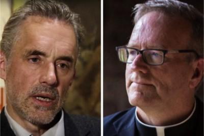 Jordan Peterson (psicologo) e mons. Robert Barron (vescovo)