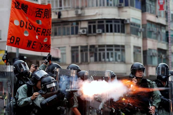 Hong Kong proteste agosto 2019 (Tyrone Siu/REUTERS)