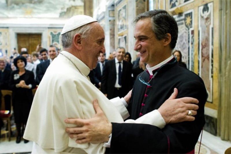 Papa Francesco e Dario Edoardo Viganò