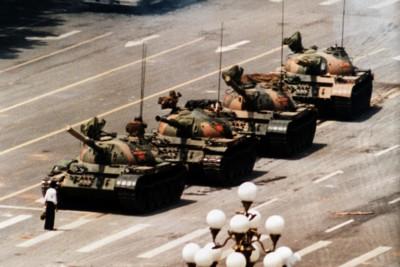 Piazza Tienanmen nel maggio 1989, Pechino (AP Photo/Jeff Widener)