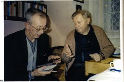 Don Francesco Ricci (a sinistra) e padre Josef Zverina