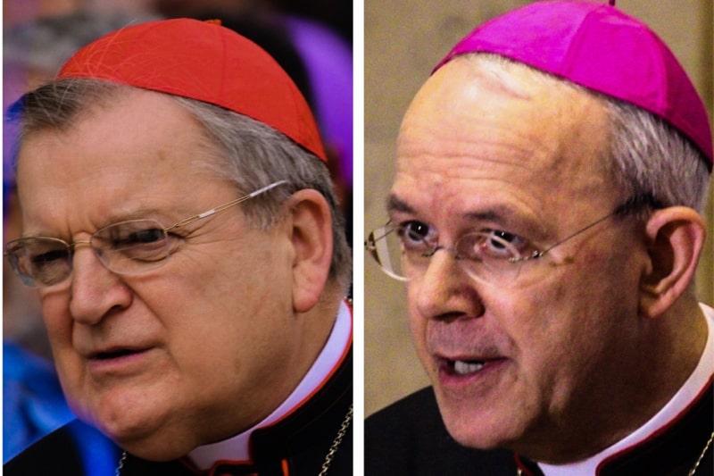 Card. Burke e il vescovo Schneider (foto: Edward Pentin)