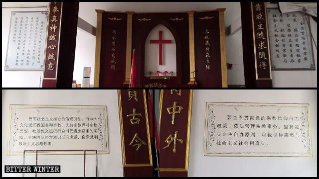 I Dieci comandamenti sono stati rimossi e in tutte le chiese cinesi sono stati sostituiti con le citazioni di Xi Jinping