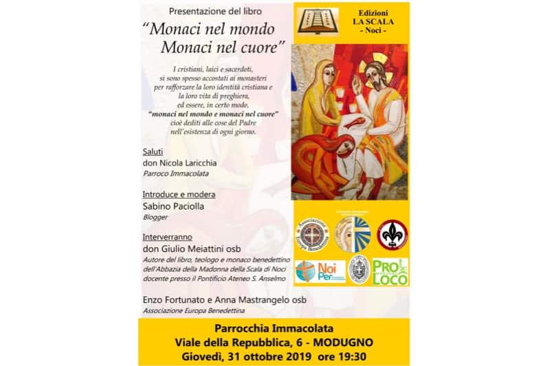 Locandina libro Meiattini monaci nel mondo