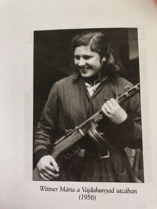 Maria Wittner da giovane partigiana (foto dal blog di Rod Dreher)