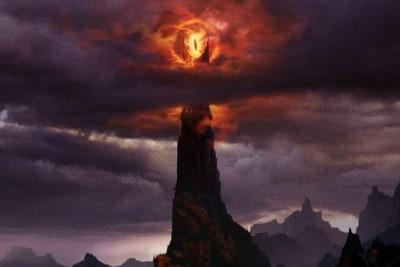Torre con l'occhio di Mordor (da Il signore degli anelli)