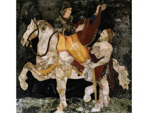 """Come il famoso lo gesto di San Martino ha dato vita alla parola """"cappella""""."""