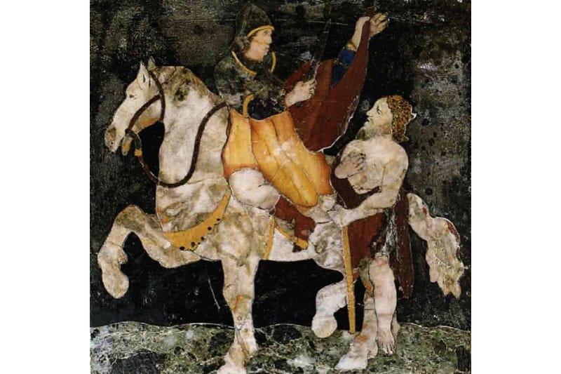 San Martino di Tours Formella in marmo policromo (Cappella del Crocifisso – Chiesa di San Martino, Venezia)