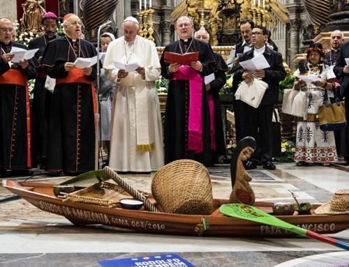Protesta contro gli atti sacrileghi di Papa Francesco
