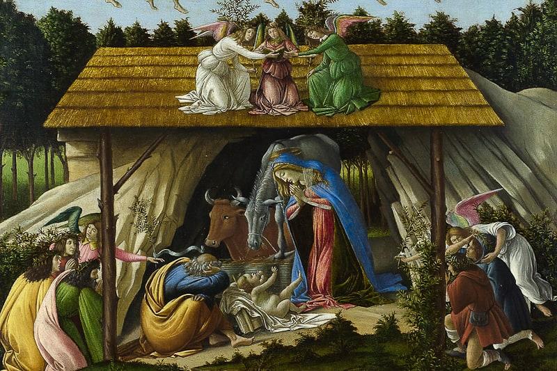 """""""Natività mistica"""" di Sandro Botticelli, 1501, National Gallery di Londra."""