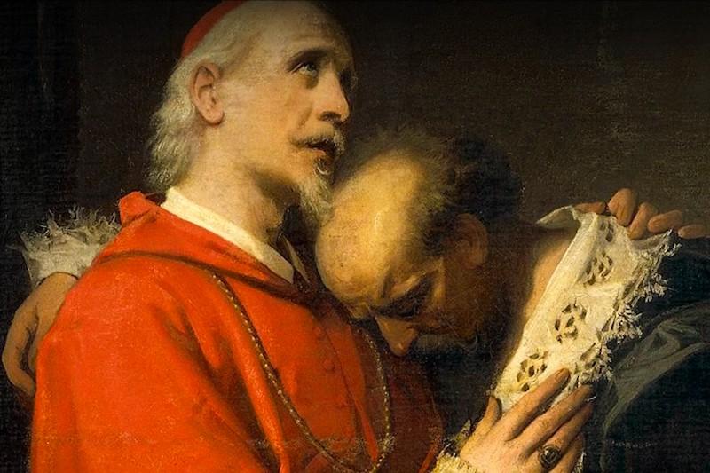 A. Guardassoni, L'innominato e il cardinale (particolare ) - screenshot