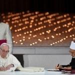 """Papa Francesco e lo sceicco Ahmed Al-Tayeb hanno chiesto all'ONU di istituire la """"Giornata Mondiale della Fraternità Umana"""""""