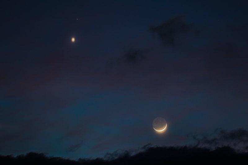 Venere nel cielo stellato