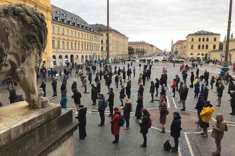 Acies Ordinata davanti alla Theatinerkirche di Monaco di Baviera il 18 gennaio 2020 Foto: AC Wimmer / CNA Tedesco