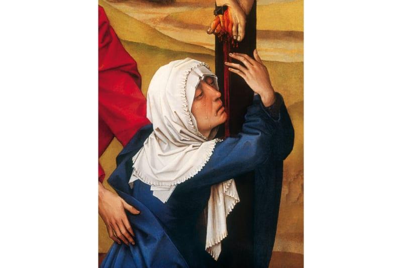Maria ai piedi della Croce (ROGIER VAN DER WEYDEN 1399-1464)
