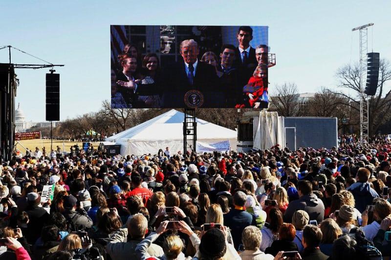 Il Presidente Donald Trump parla in videoconferenza alla Marcia per la vita 2019 1