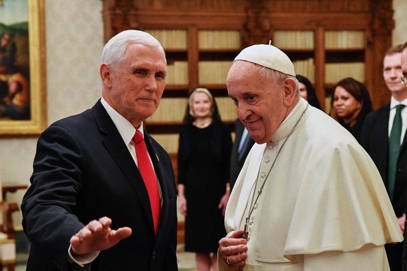 Mike Pence incontra Papa Francesco il 24.01.2020 (foto dal sito nytimespost)