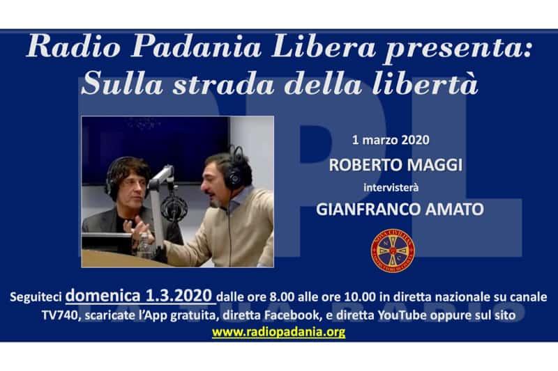 Amato a Radio Padania 01.03.2020