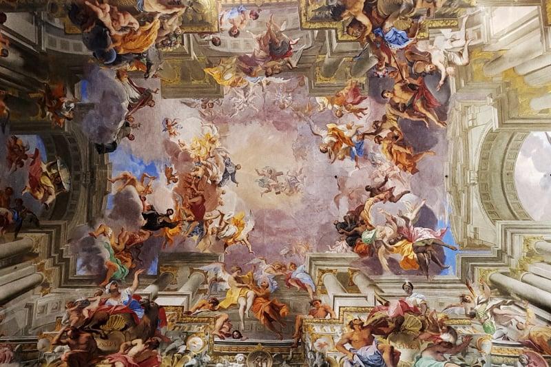 La gloria di sant'Ignazio di Loyola, Andrea Pozzo, Chiesa di Sant. Ignazio a Campo Marzio a Roma
