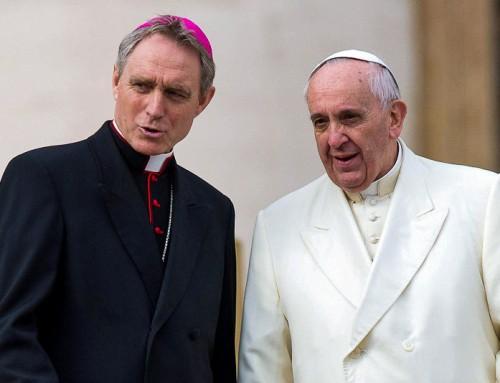 Papa Francesco ha congedato a tempo indeterminato l'arciv. Georg Gänswein, Prefetto della Casa Pontificia