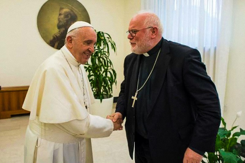 Papa Francesco e il card. Reinhard Marx