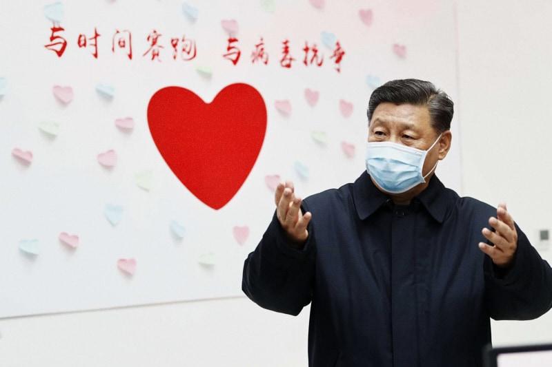 Xi Jinping con la mascherina contro il coronavirus