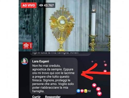 Agnostica si converte durante il momento di preghiera di Papa Francesco per la fine della pandemia del Coronavirus