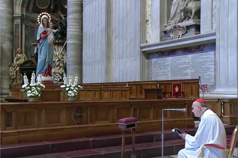 Card. Angelo Comastri all'Angelus del 11 marzo 2020 in San Pietro