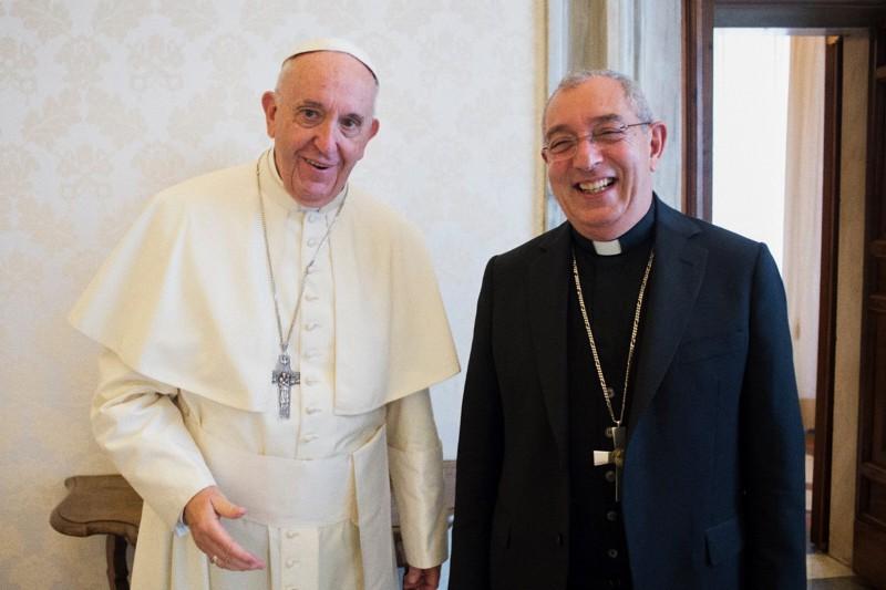 Papa Francesco ed il vicario di Roma Card. Angelo De Donatis