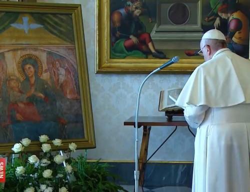 """Papa Francesco, supplica alla Vergine: """"Sotto la Tua protezione cerchiamo rifugio, Santa Madre di Dio"""""""