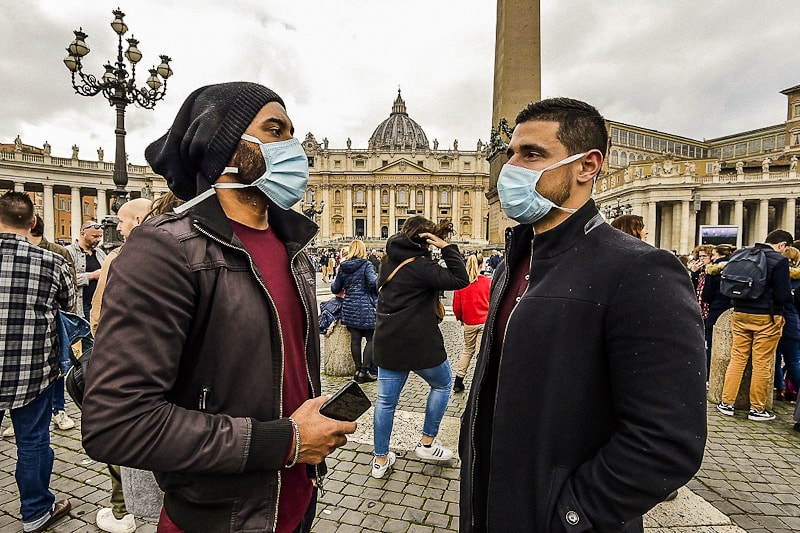 Piazza San Pietro e coronavirus