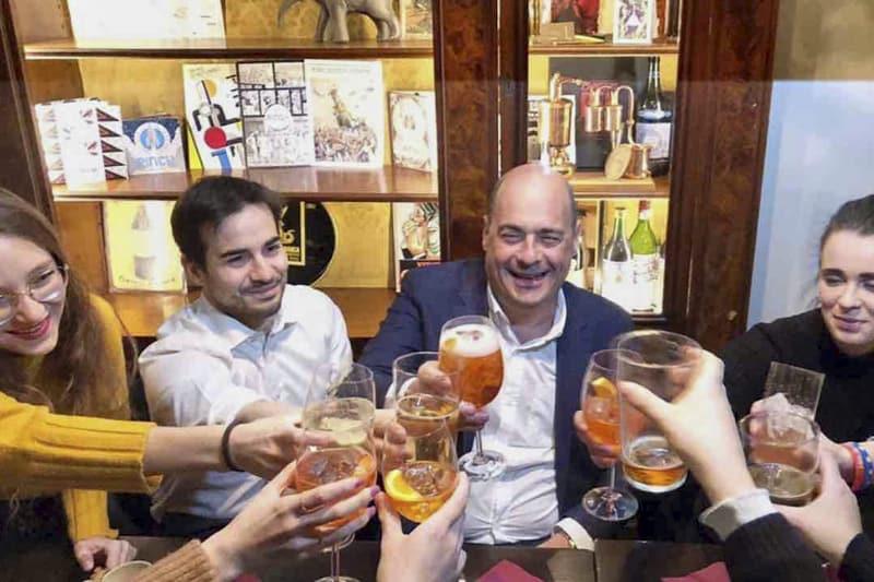 L'aperitivo di Zingaretti
