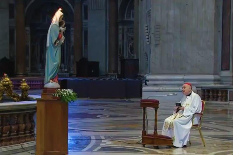 Card. Comastri recita rosario il 03 04 2020 3 aprile 2020