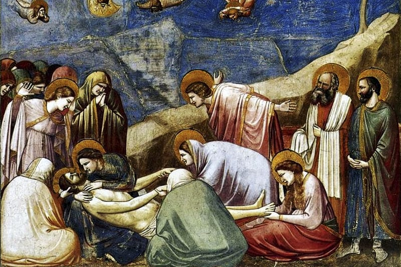 Compianto sul Cristo morto (particolare) - Giotto