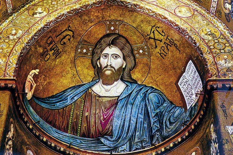 Gesù Cristo pantocratore nel duomo di Monreale