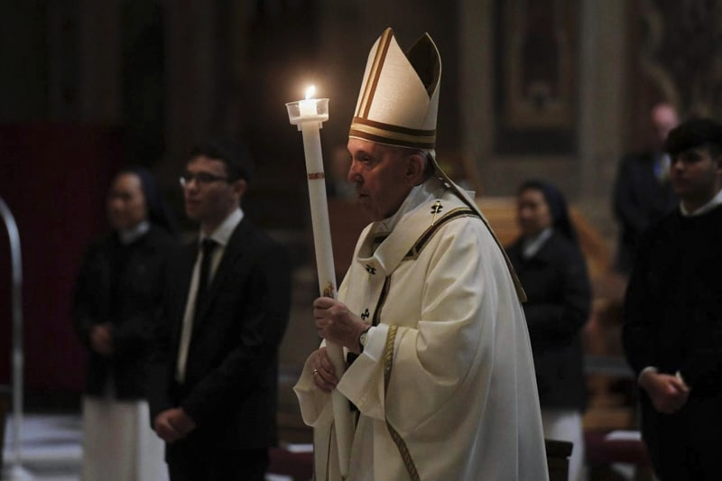 Papa Francesco, veglia Pasqua 2020