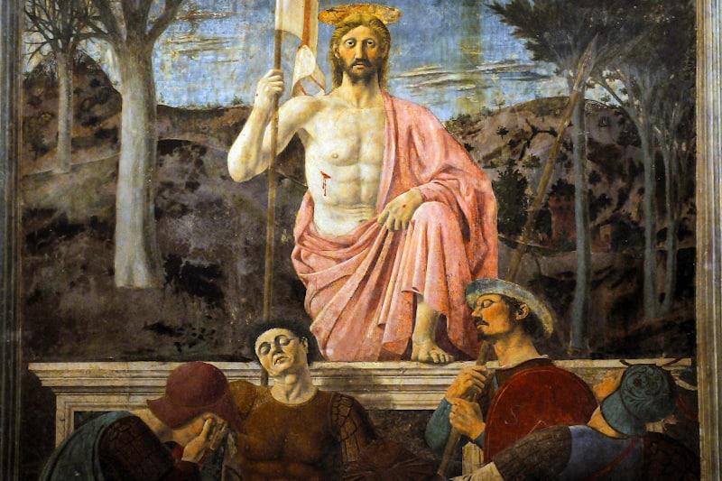 Resurrezione di Piero della Francesca - affresco, 1463 - 1465, Borgo San Sepolcro