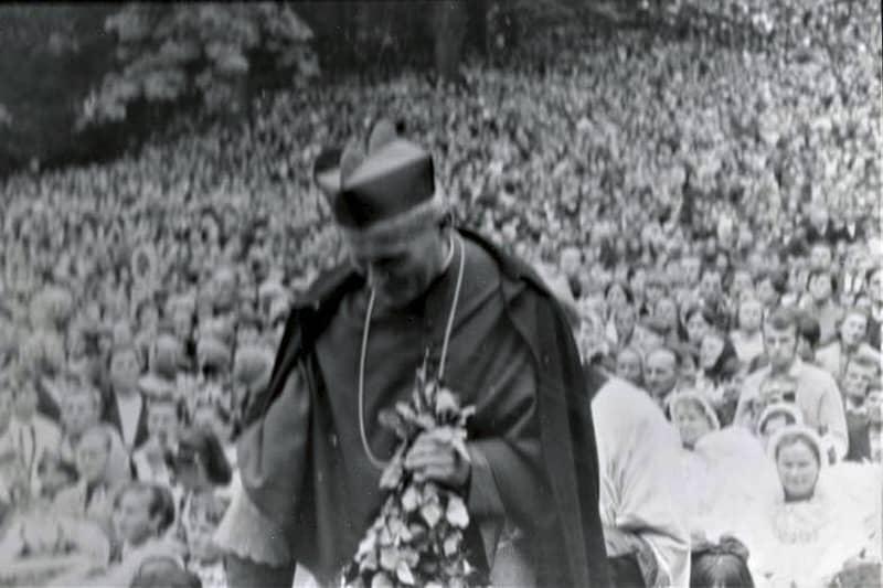 Wojtyła arriva a Kalwaria per il Venderrdì Santo anni '60