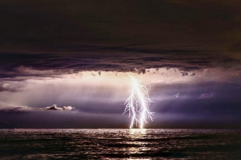 fulmini, temporale mare