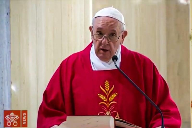 Francesco a Santa Marta il 14 maggio 2020