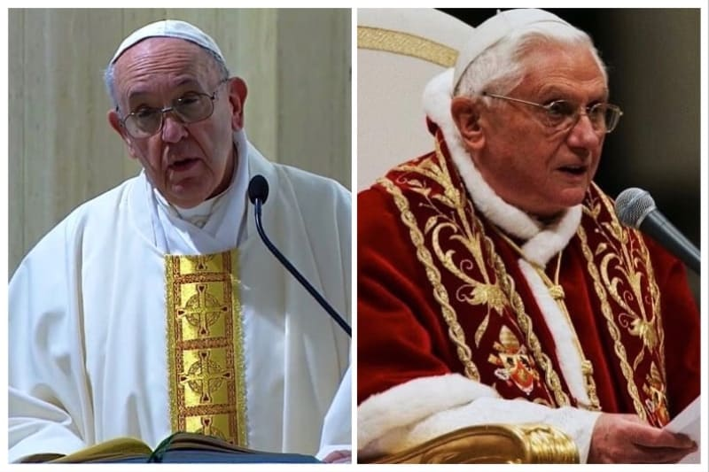 Papa Benedetto XVI e Papa Francesco